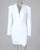 InsDresses Notched Collar Padded Shoulder Ruched Blazer Dress