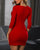 InsDresses Ruched Button Design Bodycon Dress