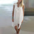 InsDresses V-Neck  Decorative Lace  Plain Shift Dress