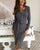 InsDresses Fashion Sexy Button Long sleeve Knit Sweater Maxi Dress