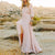 InsDresses Fashion V Neck  Asymmetric Hem Maxi Dresses
