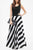 InsDresses Fashion Spaghetti Strap  Patchwork  Striped Maxi Dresses