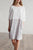 InsDresses Fashion Solid Color Imitation Cotton And Linen Stitching Dress Round Neck Cropped Sleeve Skirt