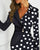 InsDresses Dot Print Colorblock Insert Blazer Dress