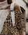 InsDresses High Neck Colorblock Leopard Cut Out Knitting Sweater
