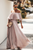 Ins Dresses Bohemian Off Shoulder Pleated Dress-2color