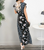 Ins Dresses Daily Print Short-sleeve Floral Maxi Dress
