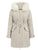 Elegant Fur Hooded Parka Lace Up Button Zippers Overcoats
