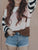 Insdresses Striped Casual O-neck Pullover Sweater