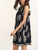 InsDresses Crew Neck Printed Sleeveless Shift Dress