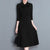 InsDresses Elegant Solid Color Slim Shift Dress