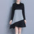 InsDresses Spell Color Long Sleeve Loose Shift Dress