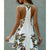 InsDresses Floral Printed Halter Sexy Beach Dress
