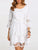 InsDresses Round Neck Patchwork See-Through Plain Polyester Shift Dress