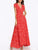 InsDresses Fashion Deep V Neck  Belt  Print  Short Sleeve Maxi Dresses