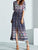 InsDresses Fashion V-Neck  Printed Maxi Dress