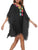 InsDresses V-Neck Tassel Applique Hollow Out Shift Dress