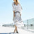 InsDresses Fashion Bohemian Loose Stripe V Collar Maxi Beach Vacation  Dress