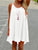 InsDresses Spaghetti Strap Hollow Out Plain Shift Dress