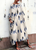 InsDresses Fashion Bohemian Striped Bell Sleeve Floral Print Maxi Dresses
