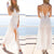 InsDresses Fashion Deep V-Neck  Backless High Slit  Belt  Plain Maxi Dresses