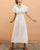 InsDresses Fashion Classy V Neck Pressure Plait Plain Dress