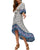 InsDresses Fashion Bohemian V-Neck Short-Sleeved Printed Dress