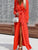 InsDresses Fashion Casual V-Neck Long Sleeve Maxi Dresses