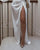 InsDresses Fashion Lapel High Fork Maxi Dresses