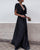 InsDresses Fashion V-Neck Open Back Multi-Layer Ruffled Wave Long Dress