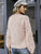 Pink Hairball O Neck Long Sleeve Casual Pullover Sweaters