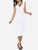 InsDresses Scoop Neck Dacron Plain Skater-Dress