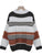 Knitted Color Blocking O Neck Long Sleeve Loose Elegant Pullover