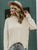 Button Solid Casual Oversize Sweater
