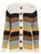 Button Korean Stripe Patchwork Knitted Cardigan