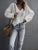 Fashion Hollow out Loose Casual V Neck Sweater