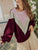 Contrast Colors Patchwork Women Pullover Sweater