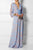 InsDresses Fashion Sexy  V Neck Long Sleeves Maxi Dress