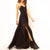 InsDresses Fashion Spaghetti Strap  High Slit  Plain Maxi Dresses