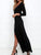 InsDresses Fashion Surplice  Belt  Plain Maxi Dresses