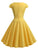 Yellow 1950s Solid Sweetheart Swing Dress