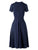 1950s Solid V Neck Swing Dress