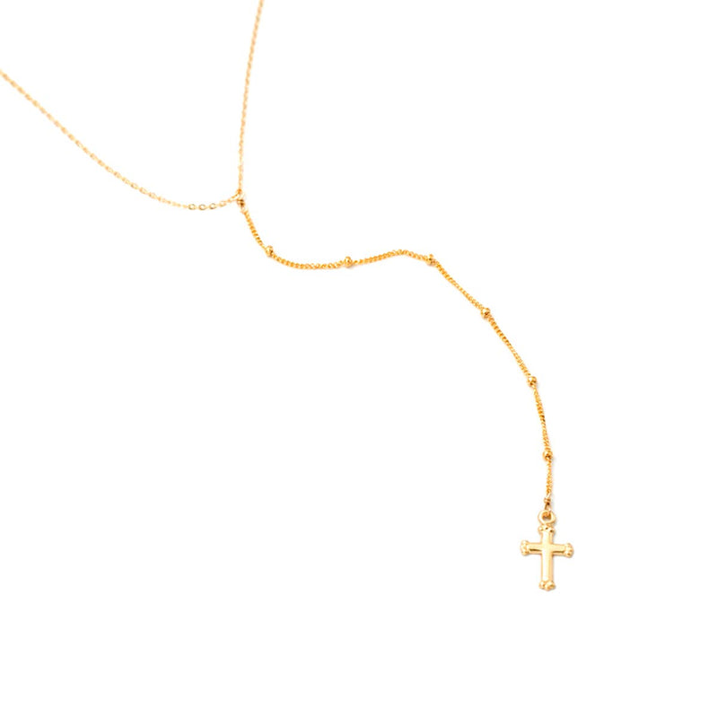 Dotted Lariat w/ Cross