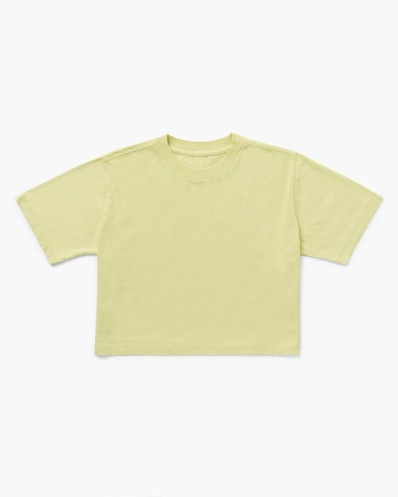 Relaxed Crop Tee - Pale Green