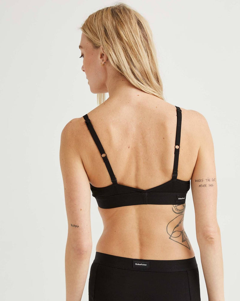 Cut Out Bralette - Black