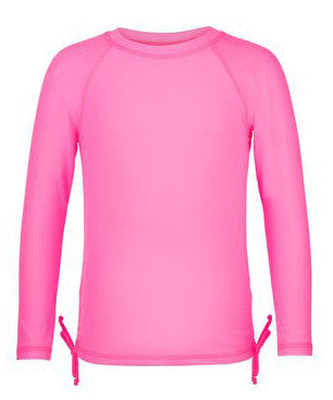 Snapper Rock Ballet Pink Long Sleeve Girls Rash Top