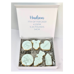 Welcome Baby 12x Cookie Pack * INCLUDES PERSONALISED ONESIE