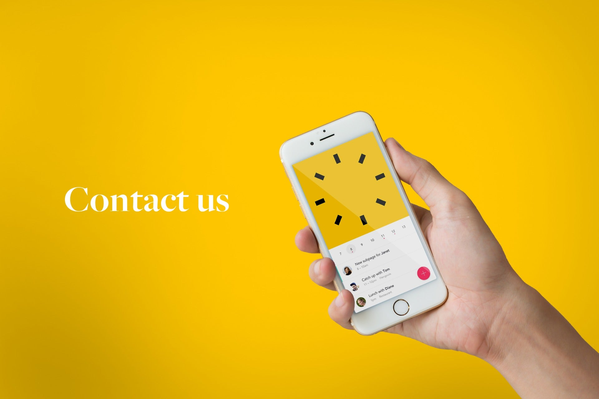 contact soulev phone in hand
