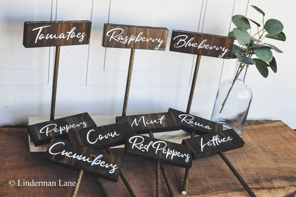 Garden Vegetable & Herb Markers