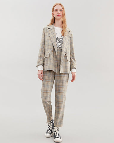KUOSE Plaid British Casual Suit & Pants